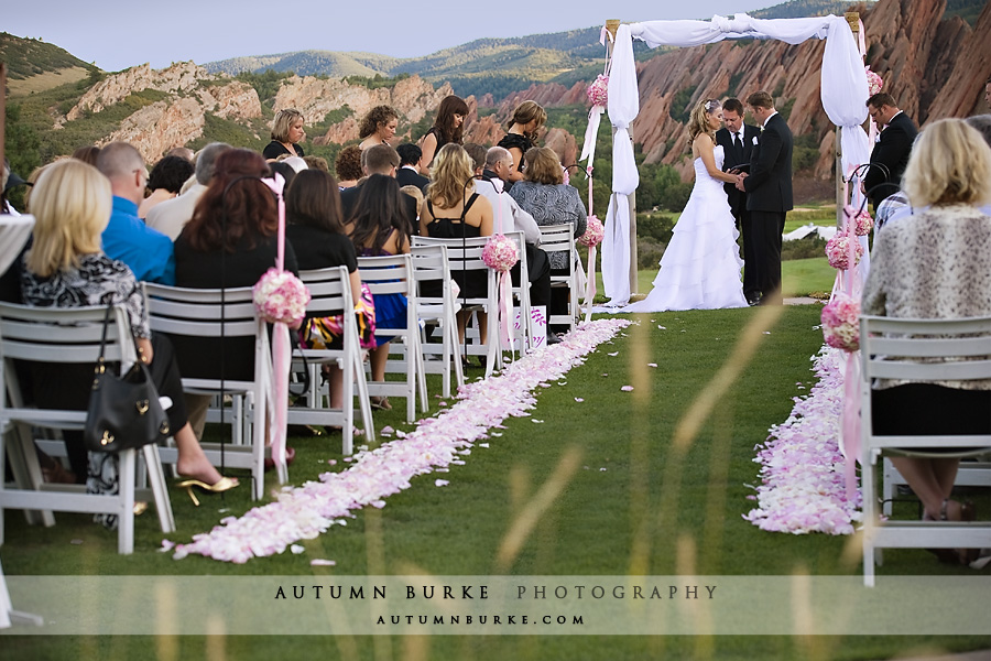 romantic elegant arrowhead colorado wedding ceremony