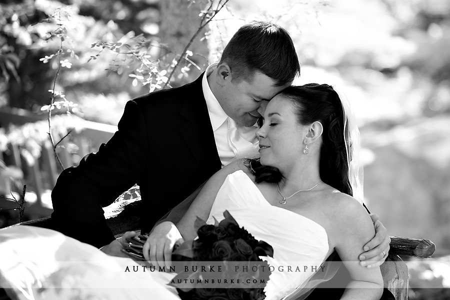 vail colorado mountain wedding elegant bride and groom