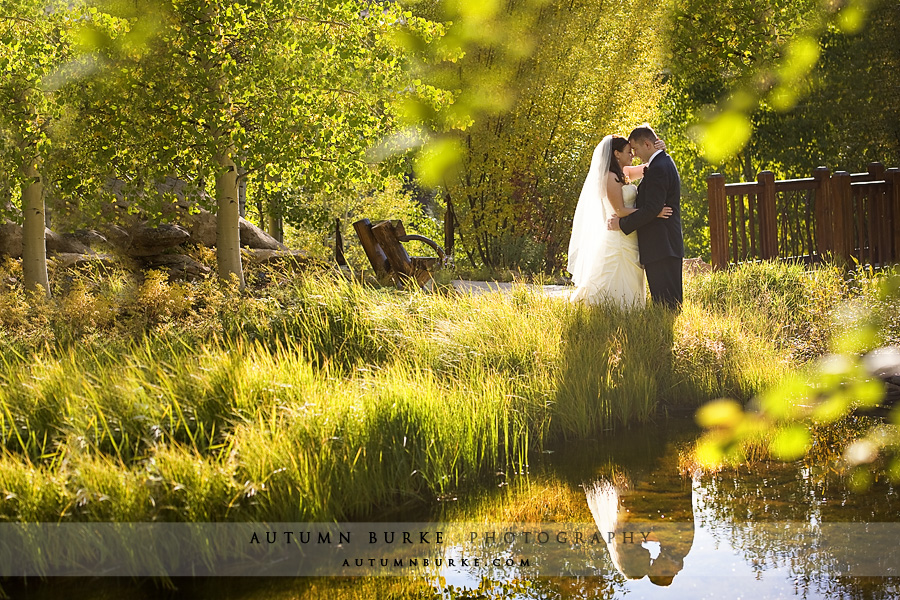 betty ford alpine gardens vail colorado fall mountain wedding aspen reflection pond