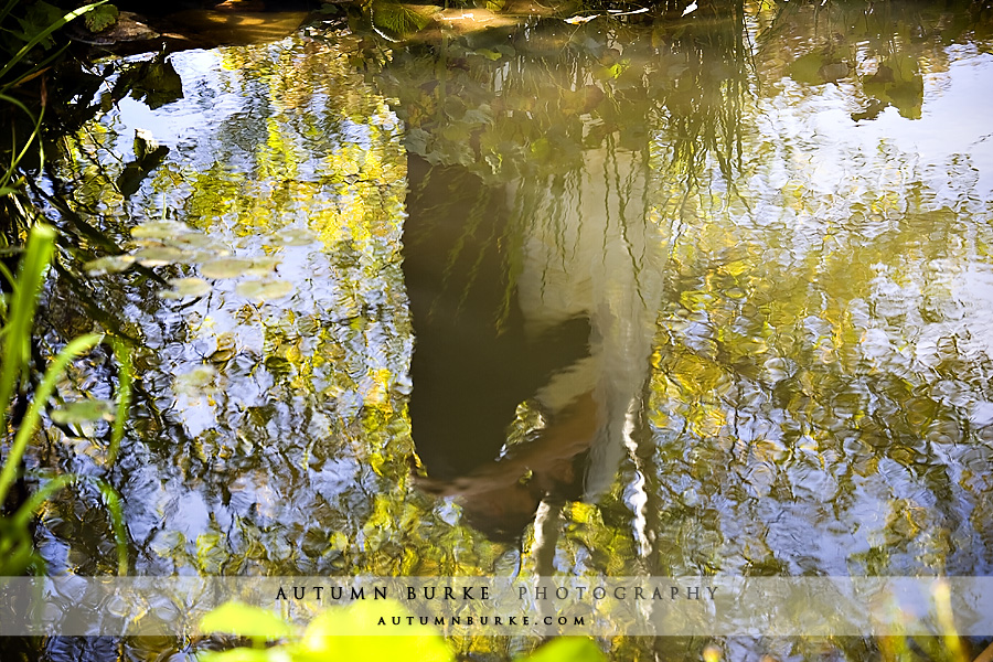 vail colorado mountain wedding aspen fall autumn bride groom reflection portrait