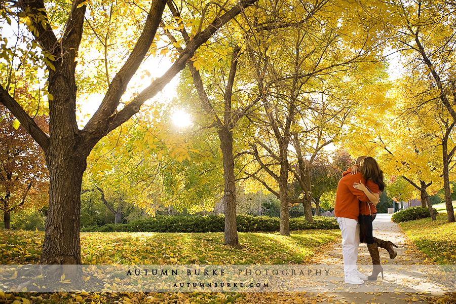 colorado autumn engagement session denver leaves