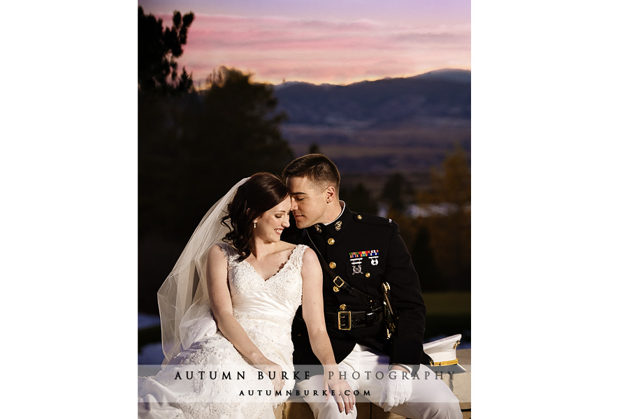 sunset portrait sanctuary wedding colorado sedalia