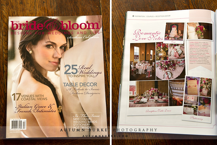 bride and bloom rustic romantic elegant wedding magazine feature crooked willow colorado