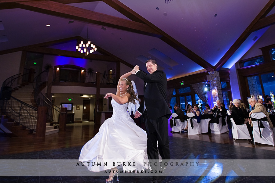 cielo castle pines wedding first dance colorado bride groom