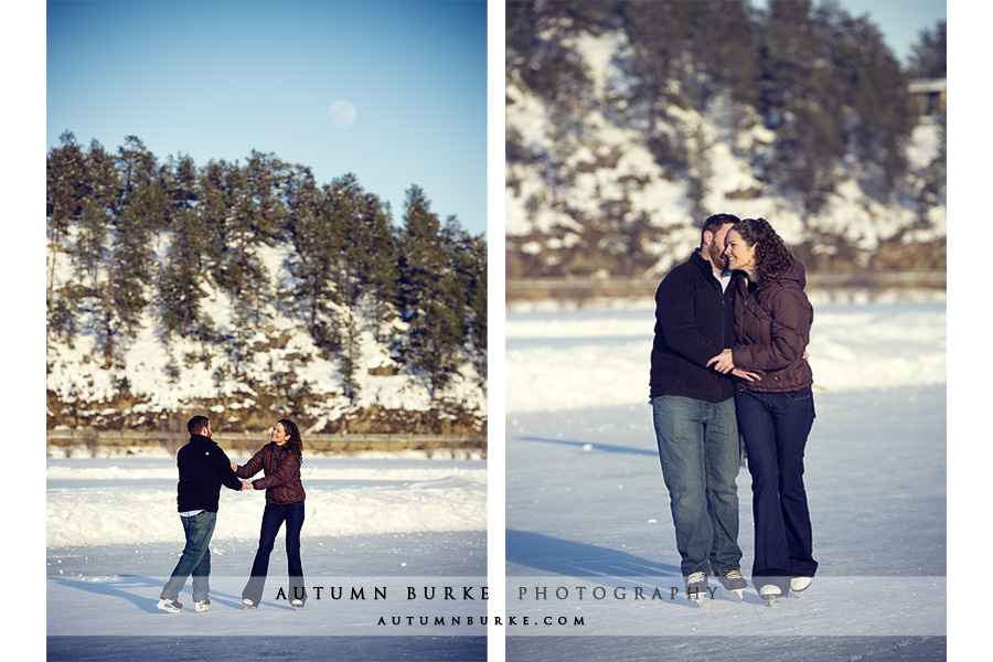 evergreen lake house colorado wedding engagement session ice skating
