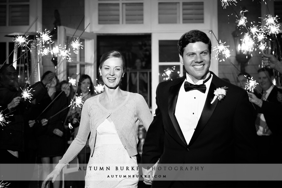 denver country club colorado wedding bride groom sparkler exit
