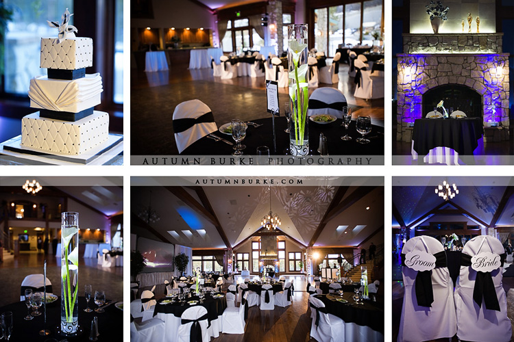 cielo castle pines winter wedding venue colorado decor