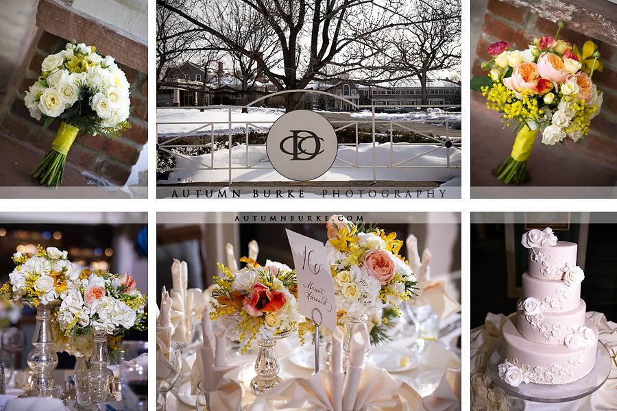 denver country club winter wedding floral design decor details