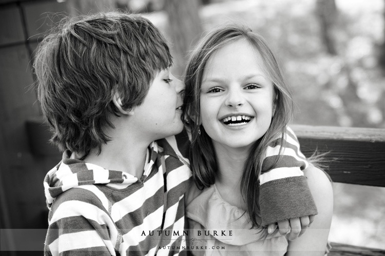 denver colorado family portrait photography brother sister laughing