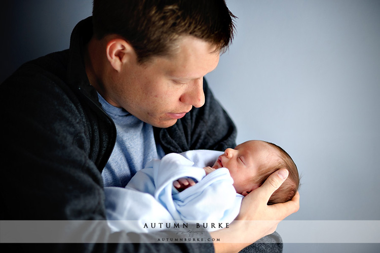 colorado baby portrait session denver newborn father son