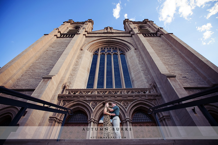 colorado engagement session historic church
