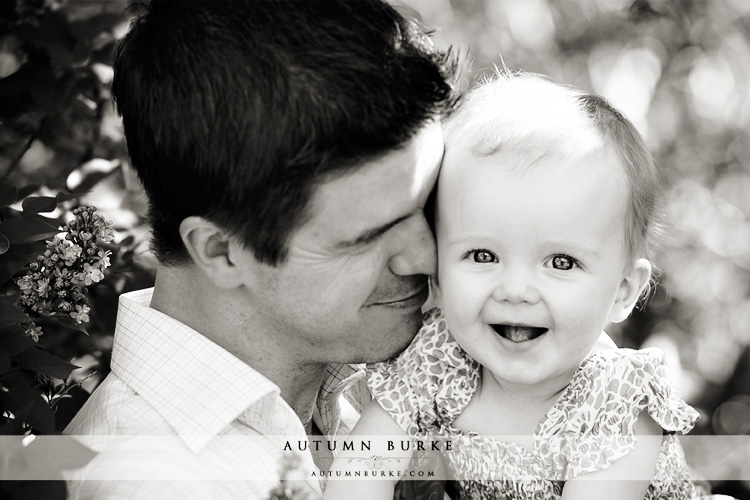 sweet daddy daughter family portrait outdoors denver colorado