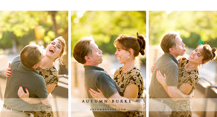 denver colorado engagement session laughter couple