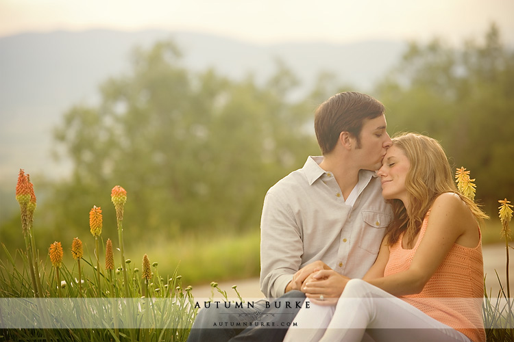 sun drenched denver colorado wedding engagement outdoors mountains
