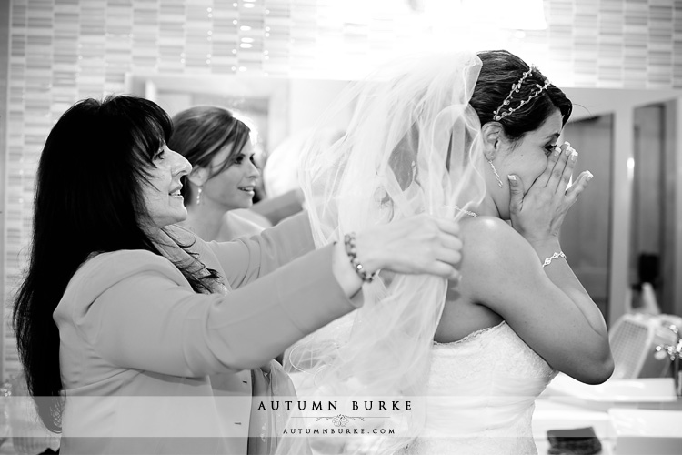 colorado mountain wedding bride prep emotional black&white getting ready