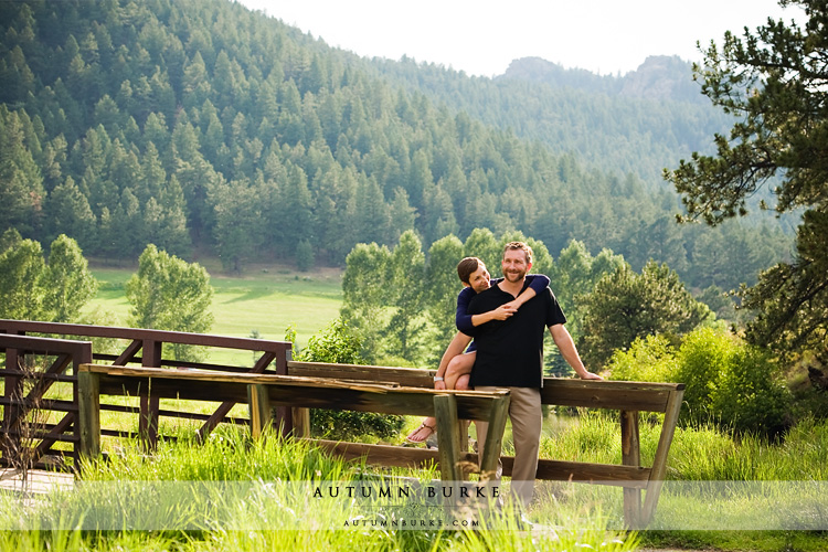 lake evergreen colorado mountain wedding engagement session