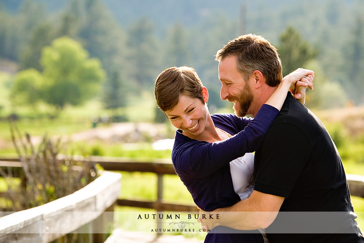 colorado mountain wedding engagement session portrait