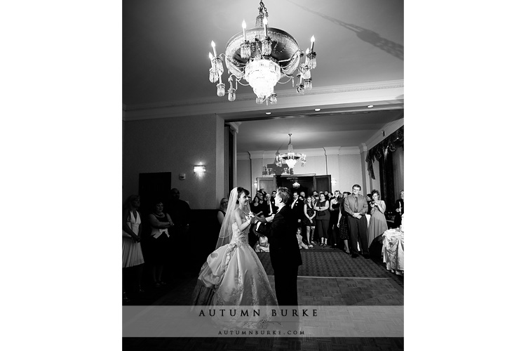 denver colorado brown palace hotel wedding first dance onxy room