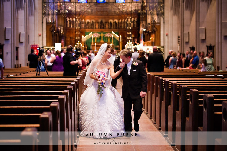 st johns episcopal cathedral denver wedding ceremony recessional