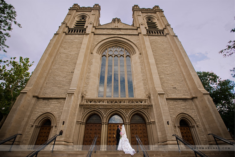 st johns denver wedding ceremony bride groom