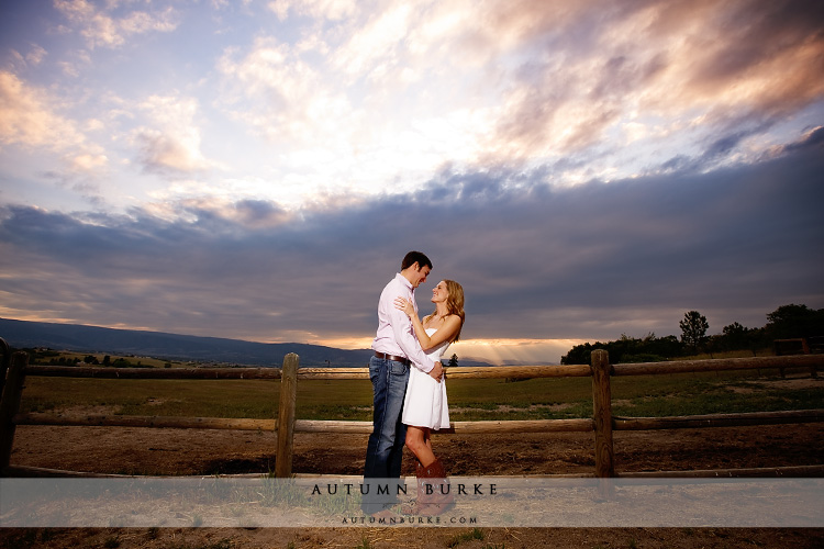 denver colorado wedding engagement session big sky sunset