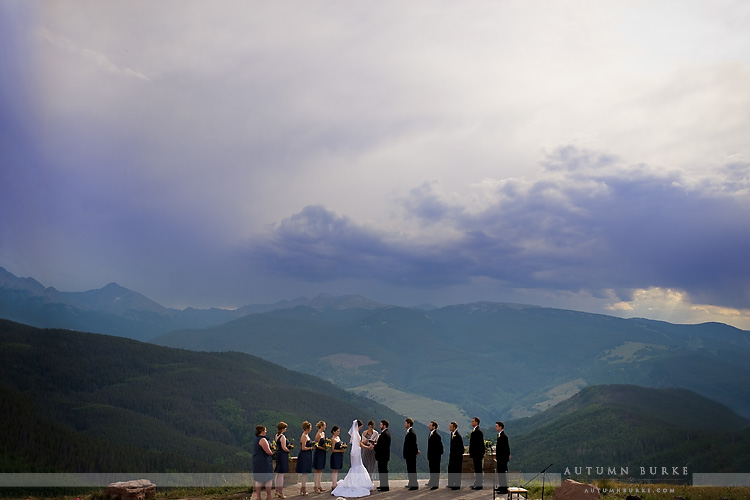 vail wedding deck ceremony colorado