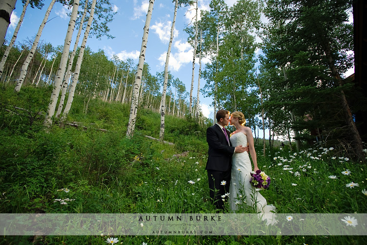 aspen trees and wildflowers allies cabin wedding beaver creek colorado