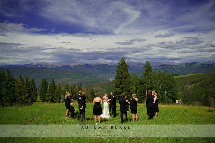 beaver creek wedding deck ceremony colorado mountain top allies cabin