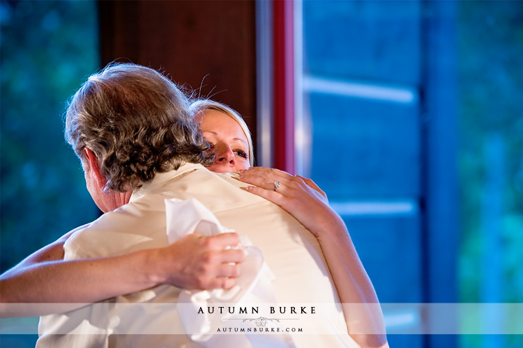 father of the bride toasts newlyweds beaver creek colorado mountain wedding allies cabin