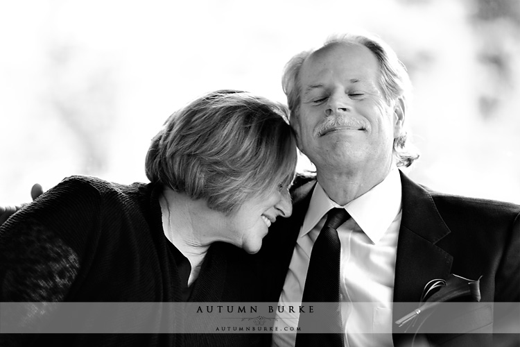 adorable mother and father of the bride sweet moment