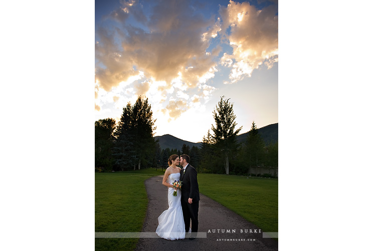 larkspur restaurant vail colorado mountain wedding bride groom