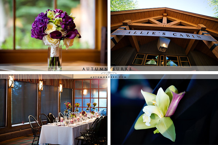 allies cabin beaver creek colorado mountain wedding details floral
