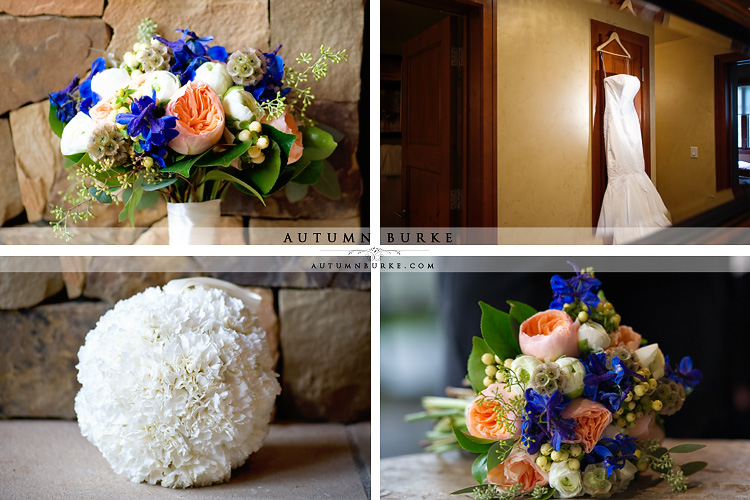 vail colorado mountain wedding floral details