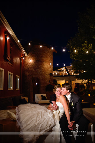 bride and groom dramatic light crooked willow farms wedding larkspur colorado