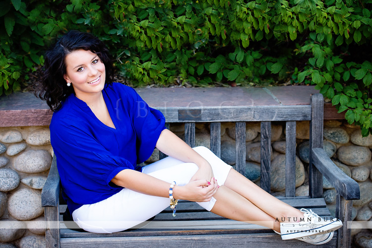 hudson gardens colorado senior portrait high school