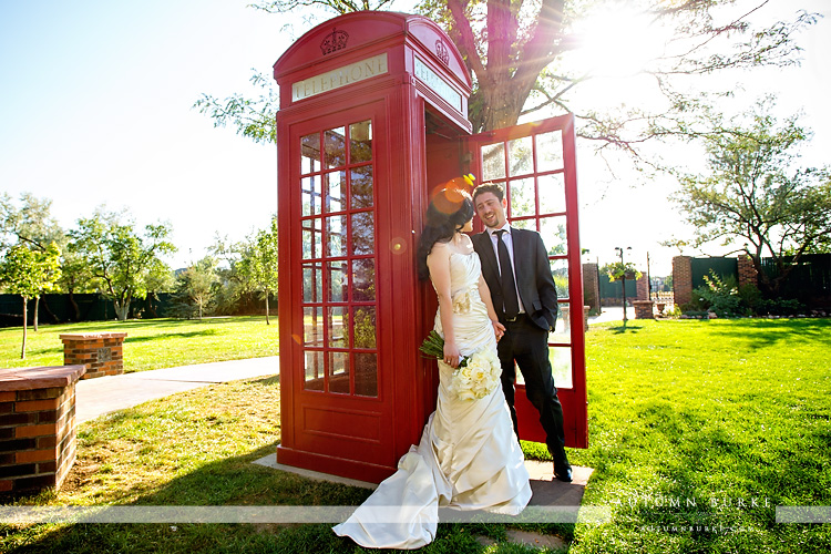 red phone booth dove house lionsgate event center wedding colorado