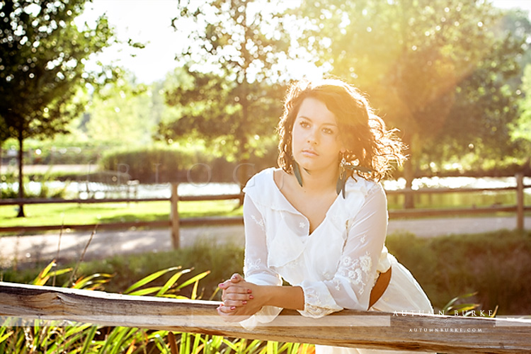 senior portrait colorado sun-kissed natural