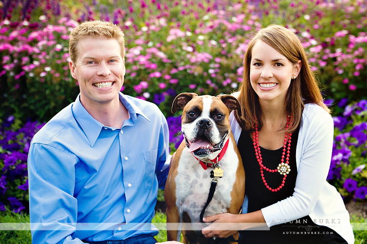 colorado family portrait wash park denver engagement session with dog
