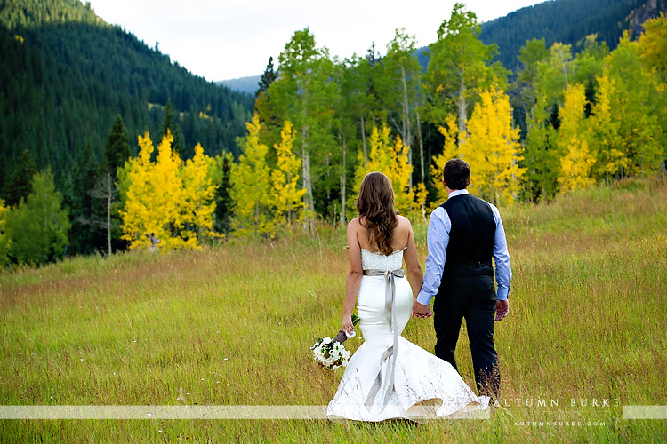 beaver creek colorado wedding beanos cabin bride and groom rustic mountain aspen