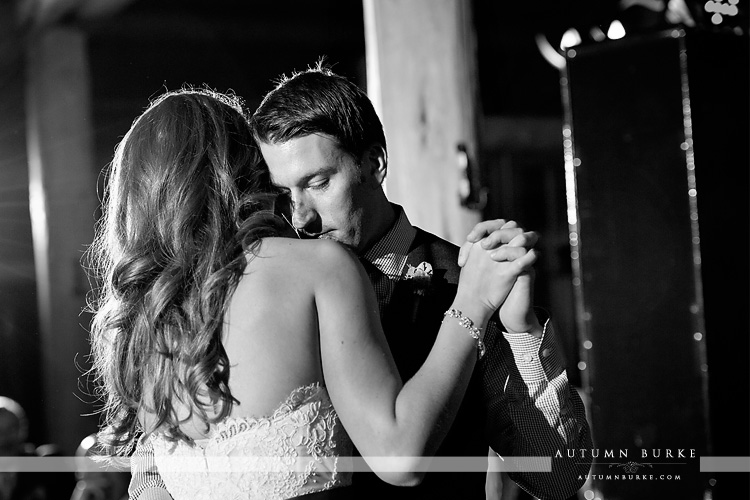 beaver creek colorado beanos cabin wedding reception first dance