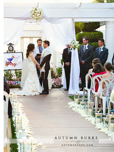 jewish wedding ceremony chuppah bride and groom lionsgate wedding colorado