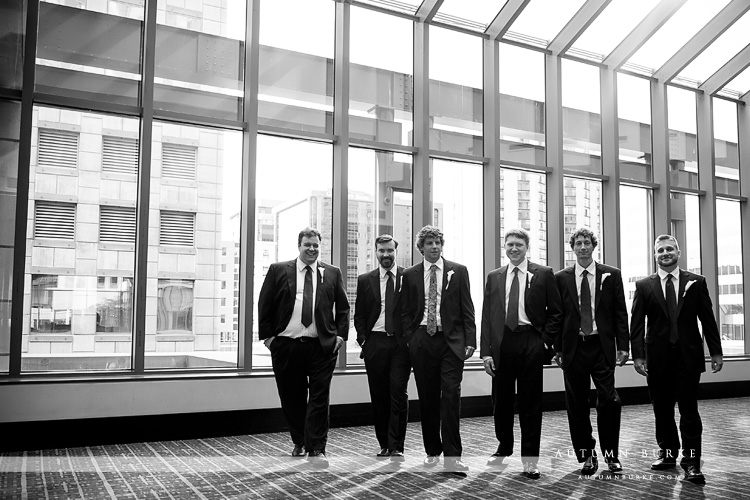 groom and groomsmen denver westin wedding colorado