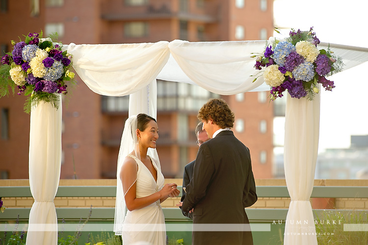 wedding vows westin hotel downtown denver colorado rooftop ceremony