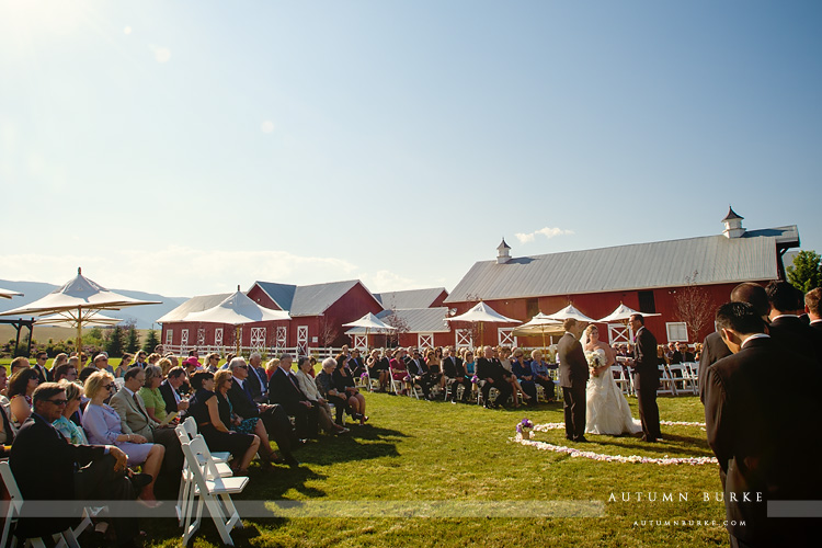 colorado barn wedding crooked willow farms ceremony