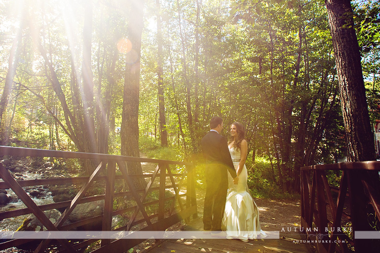rustic mountain wedding elegant beaver creek colorado beanos cabin bride and groom first look