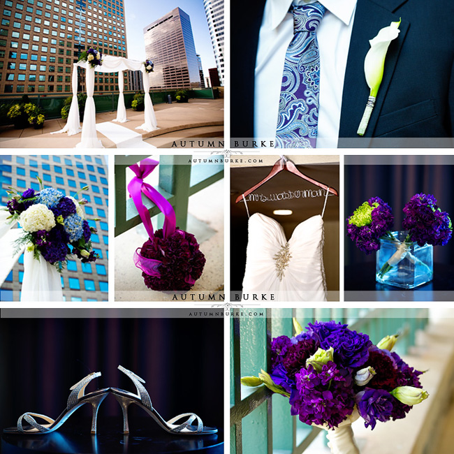 downtown denver westin hotel wedding inspiration details chuppah flowers bouquet pommander
