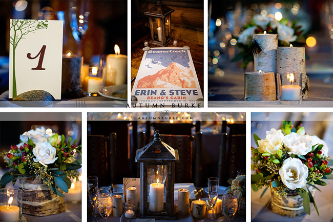 colorado mountain wedding beanos cabin beaver creek rustic wedding details decor