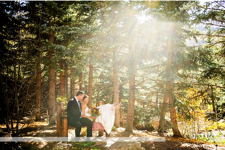 sonnenalp resort vail colorado wedding bride and groom portrait betty ford alpine gardens