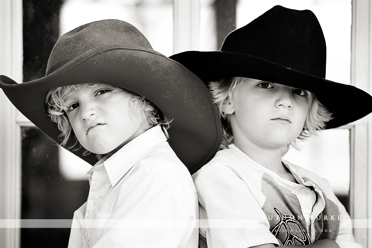 colorado kids portrait session cowboy hats highlands ranch mansion