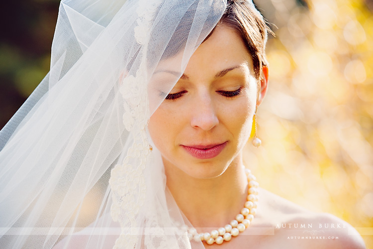 beautiful classic colorado bride vail sonnenalp wedding veil pearls